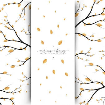 Autumn Leaves Abstract Banner