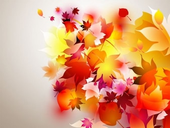 autumn leaves flying