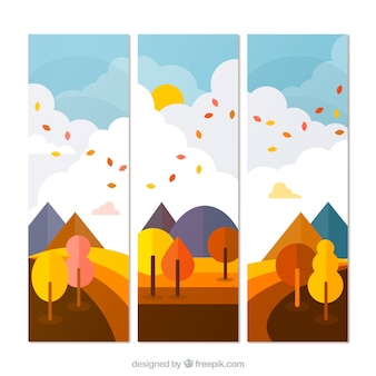 Autumn nature banners