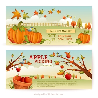 Autumn picking banners