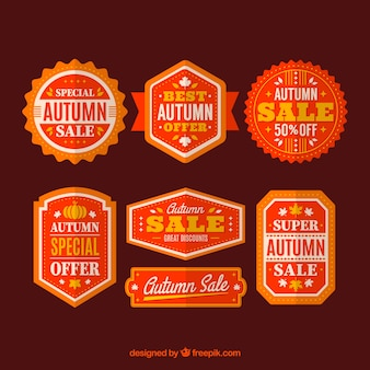 Autumn sale flat sticker pack