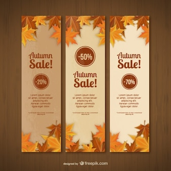 Autumn sales banner templates