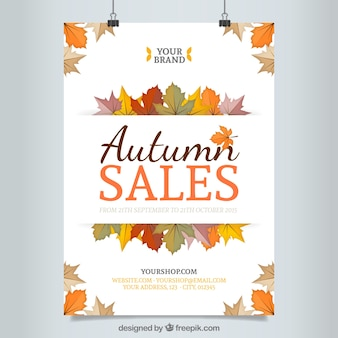 Autumn sales poster