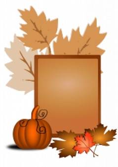Autumn Text Layout Vector