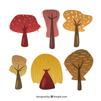 Autumn trees collection