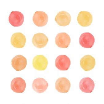 Autumn watercolor dots