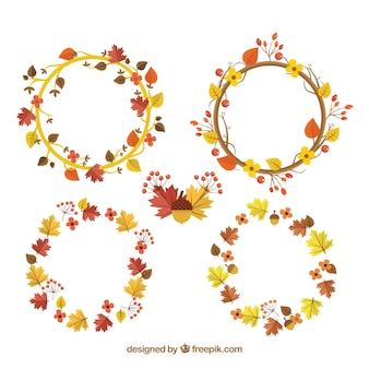 Autumn wreath collection