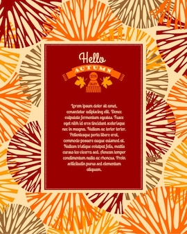 Autumnal greeting template
