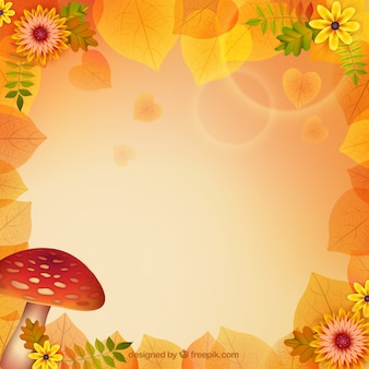 Autumnal nature background