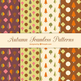 Autumnal patterns with trees