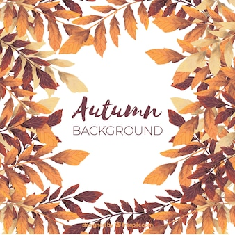 Autumnal watercolor background
