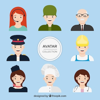 Avatar collection of professionals