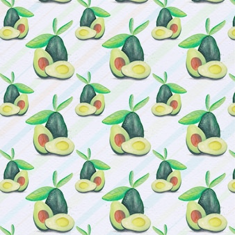 Avocado pattern backgorund