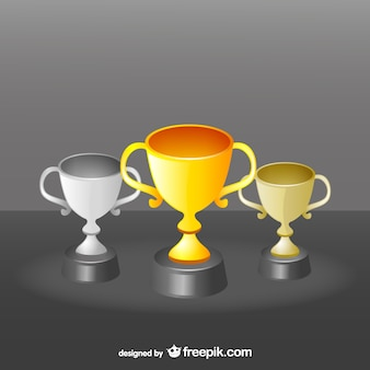 Award cups set