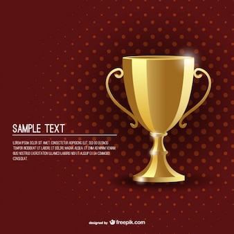 Award golden cup background template