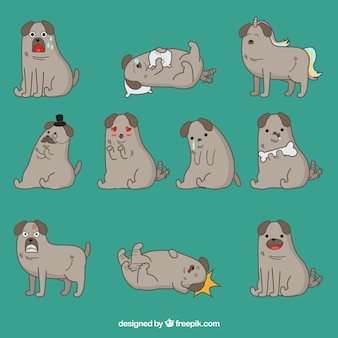 Awesome collection of dog emoticons