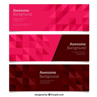 Awesome geometric banners