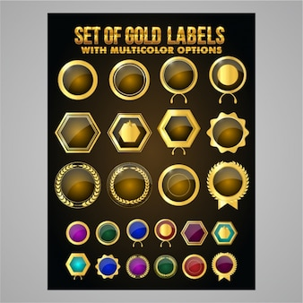 Awesome golden badges