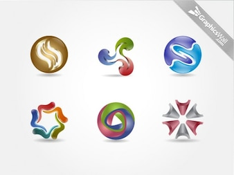 Awesome logo shapes vector elements