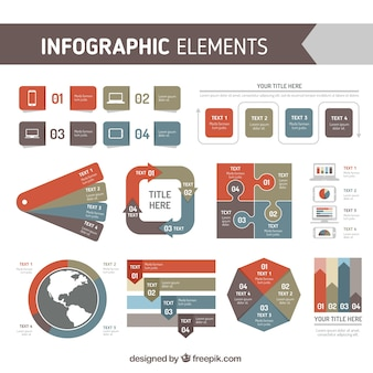 Awesome pack of infographic elements