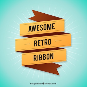 Awesome retro ribbon