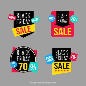 Awesome sale labels for black friday
