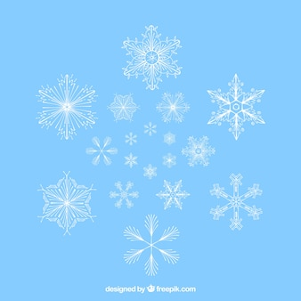 Awesome snowflakes collection