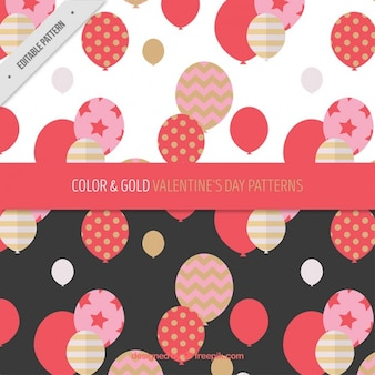 Awesome valentines pattern with balloons