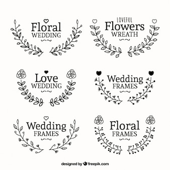 Awesome wedding frames with flowers
