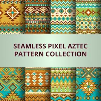 Aztec pixel pattern