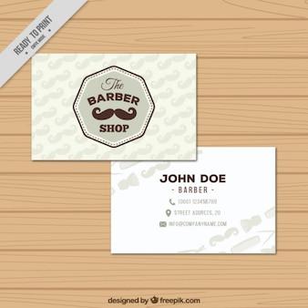 Baber Shop Visit Card Template