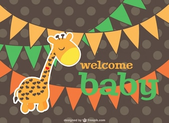 Baby card cartoon design