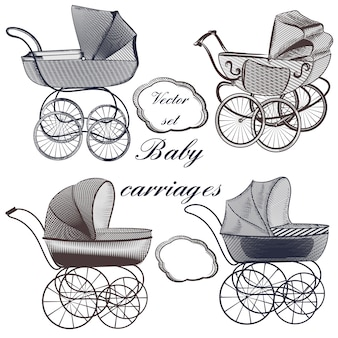 Baby carriages collection