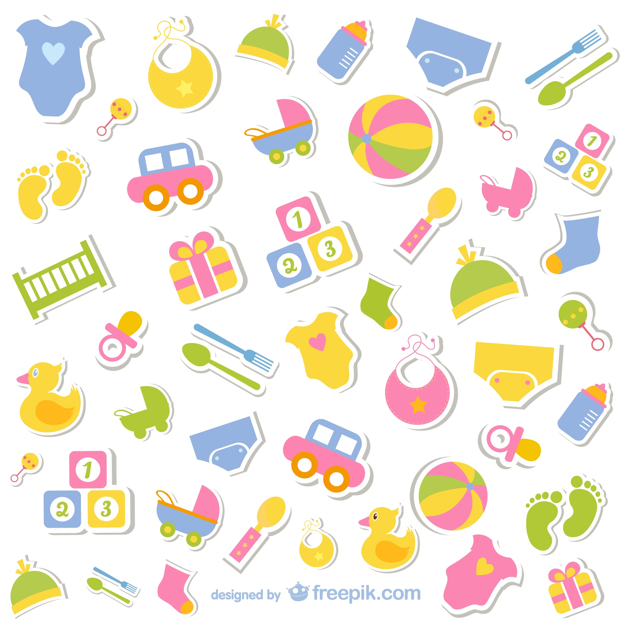 Baby elements icons