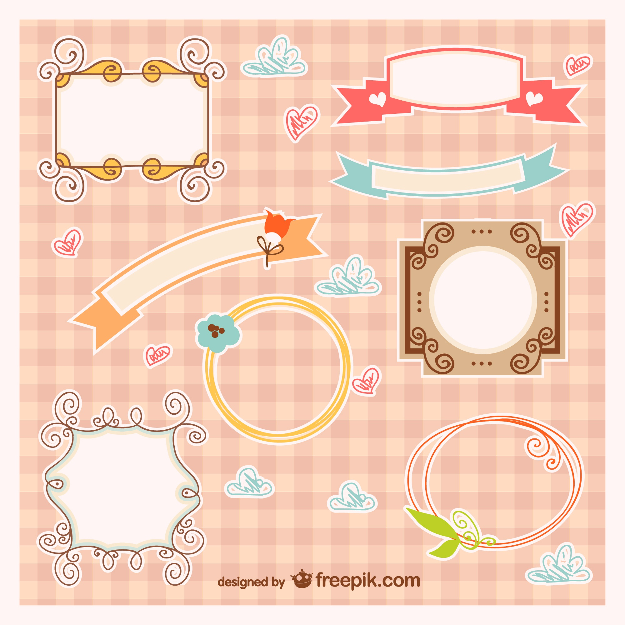 Baby frames and ribbons