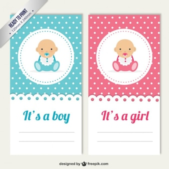 Baby gender cards