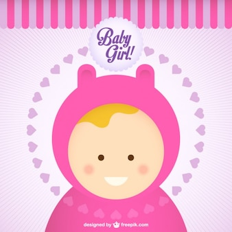 Baby girl cartoon