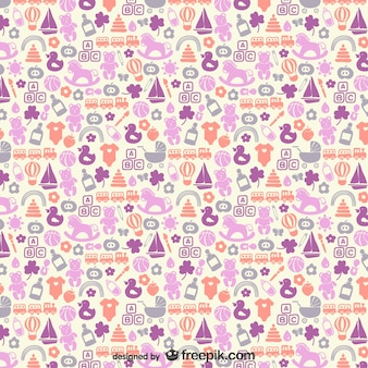 Baby icons vector pattern