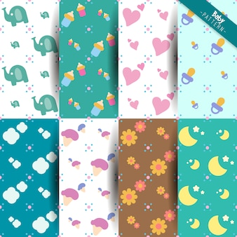 Baby pattern background collection