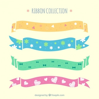 Baby ribbons with beautiful designs