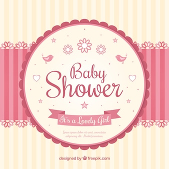 Baby shower card with a mobile