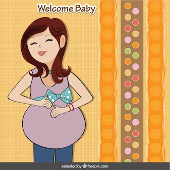 baby shower card with happy pregnant 8 205 76 2 years ago