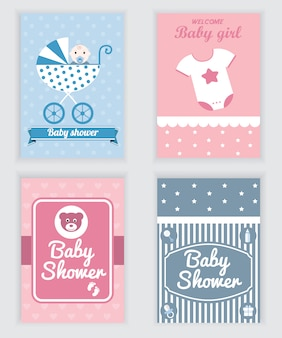 Baby shower cards collection