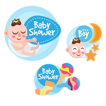 Baby shower labels collection