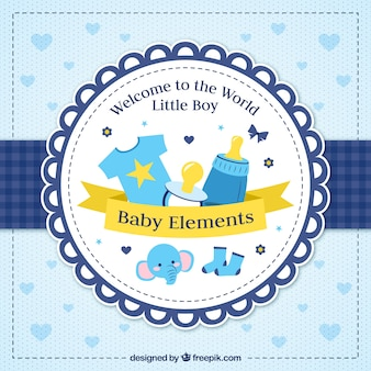 Baby shower vintage background