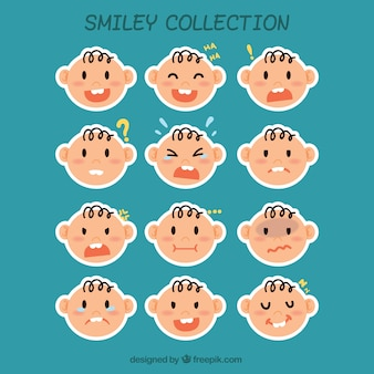 Baby smiley label collection