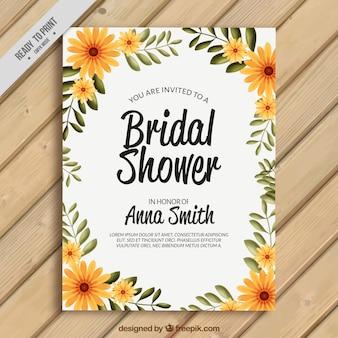 Bachelorette daisies card