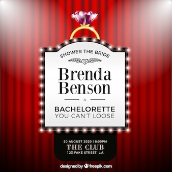 Bachelorette party template with show lights