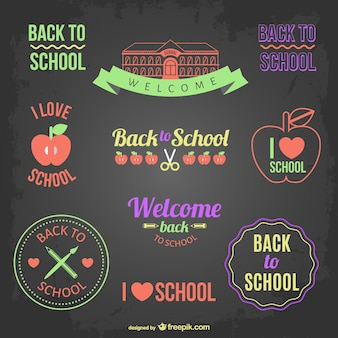 Back to school badges and banners