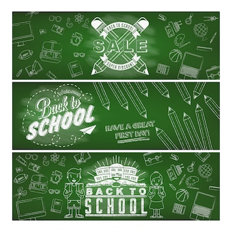Back to school banners collection